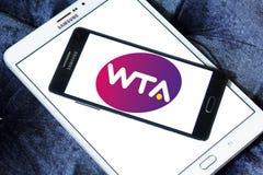 Women`s Tennis Association ,WTA logo. Logo of Women`s Tennis Association ,WTA on samsung mobile on samsung tablet. WTA is the principal organizing body of women` Stock Images
