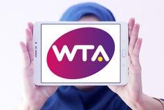Women`s Tennis Association ,WTA logo. Logo of Women`s Tennis Association ,WTA on samsung tablet holded by arab muslim woman. WTA is the principal organizing body Royalty Free Stock Images