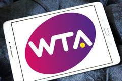 Women`s Tennis Association ,WTA logo. Logo of Women`s Tennis Association ,WTA on samsung tablet. WTA is the principal organizing body of women`s professional Stock Images