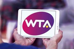 Women`s Tennis Association ,WTA logo. Logo of Women`s Tennis Association ,WTA on samsung tablet. WTA is the principal organizing body of women`s professional Royalty Free Stock Photo