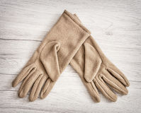 Women's textile gloves, beauty and fashion Stock Image