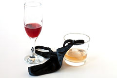 Women's thong to glasses Royalty Free Stock Photos