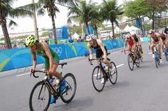 Women`s triathlon at Rio2016 Royalty Free Stock Photo