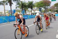 Women`s triathlon at Rio2016 royalty free stock photos