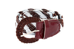 Women's trouser belt isolated Stock Photo