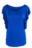 Women's tunic in royal blue Royalty Free Stock Images