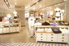 Women's underwear sales shop Stock Image