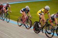 Women's Velodrome Cycling - 12K Scratch final. Blaine, MN - June 8: Women's Velodrome Cycling: 12K Scratch final race on June 8, 2008 Royalty Free Stock Photos