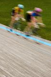 Women's Velodrome Cycling - Motion Blur. Blaine MN - June 8: Women's Velodrome Cycling: 12K Scratch final race on June 8, 2008 - motion blur Royalty Free Stock Images