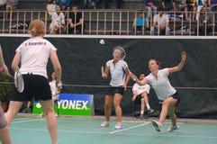 Women´s verdoppelt Badminton lizenzfreie stockbilder