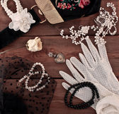 Women's vintage  accessories Royalty Free Stock Photo