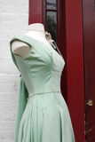 Women's vintage green dress Stock Images