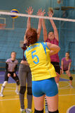 Women's volleyball match Royalty Free Stock Photography