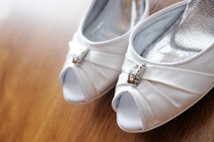 Women\'s wedding shoes Royalty Free Stock Photography