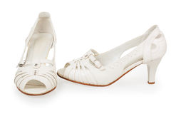 Women's white shoes Royalty Free Stock Image