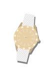 Women's white wrist watch Stock Photo