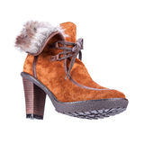 Women's winter boots on a white background Stock Photography