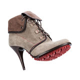 Women's winter boots on a white background Stock Images