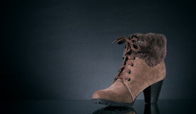 Women's winter shoes Stock Images
