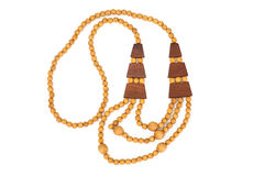 Women`s Wooden Jewelry Beads. Studio Photo Royalty Free Stock Image
