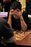 A Women's World Chess Champion Stock Images