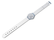 Women's wrist watch isolated on a white background. 3d rendering Royalty Free Stock Photo
