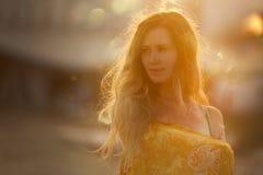 Women's Yellow Textile Stock Photography