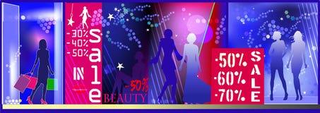 Women sale shop Royalty Free Stock Image