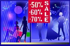 Women sale shop window Stock Photo