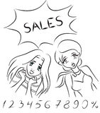 Women and sales Stock Photography