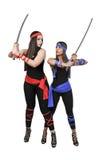 Women Samurai Swordsmen Stock Photography