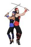Women Samurai Swordsmen Royalty Free Stock Photography