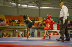 Women Sanda competition Royalty Free Stock Photos