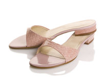 Women sandals. Female sandals isolated on white Royalty Free Stock Images