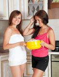Women with   saucepan Stock Images