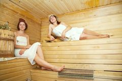 Women at sauna Royalty Free Stock Photo