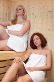 Women in sauna Royalty Free Stock Photography