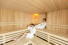 Women in the sauna Royalty Free Stock Photo