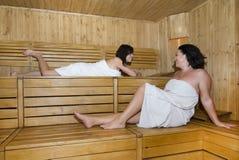 Women in sauna Royalty Free Stock Photo