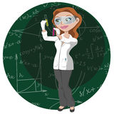 Women and science stock image
