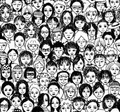 Women - seamless pattern Stock Images
