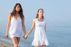 Women at Seaside Stock Photos
