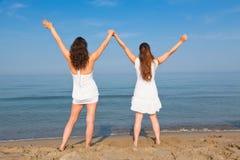 Women at Seaside Stock Image