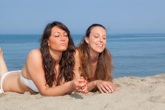 Women at Seaside Royalty Free Stock Images