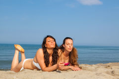 Women at Seaside Stock Images