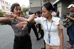Women self defense Stock Image