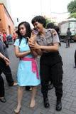 Women self defense Stock Photography
