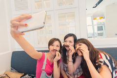 Women selfie Stock Photo
