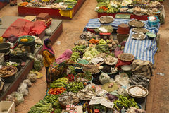 Women selling in the covered vegetables market, Malaysia Stock Images