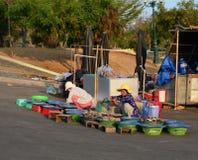 Women selling fish at the local market in Hon Khoi, Nha Trang, Vietnam Royalty Free Stock Photography